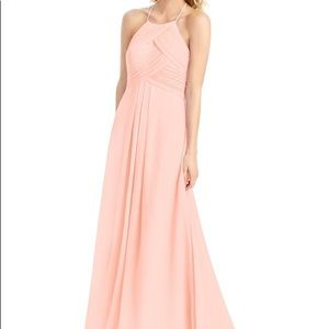 Azazie Ginger Dress Coral Size A6 Bridesmaid